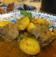 Tagine med kød og kartofler