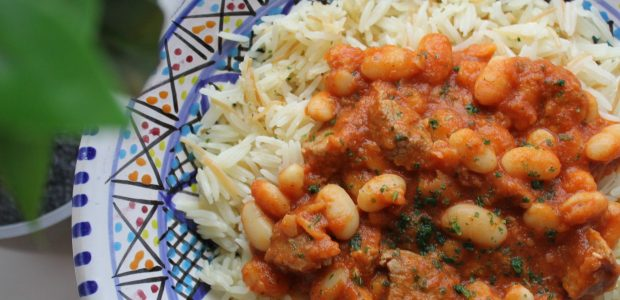 Fasulya – hvide bønner i tomatsovs