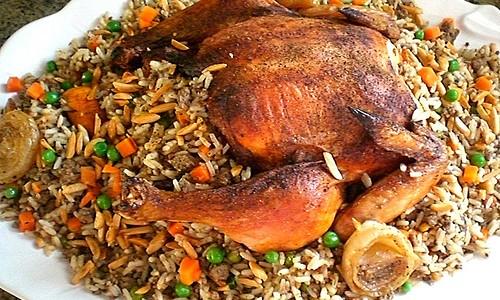yasalam  kylling fyldt med ris og andet godt og blandet